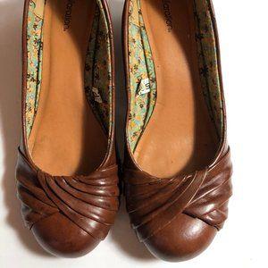 Xhilaration Shoes Size 7 Ballet Wedge Heeled Brow
